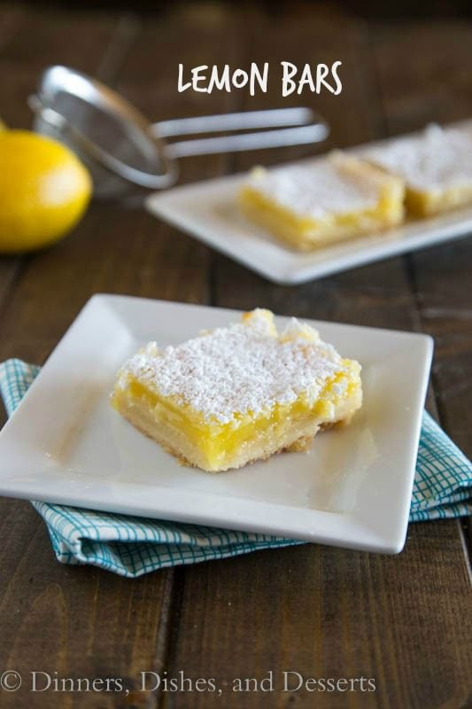 Creamy Lemon Bars | Dinners, Dishes, and Desserts