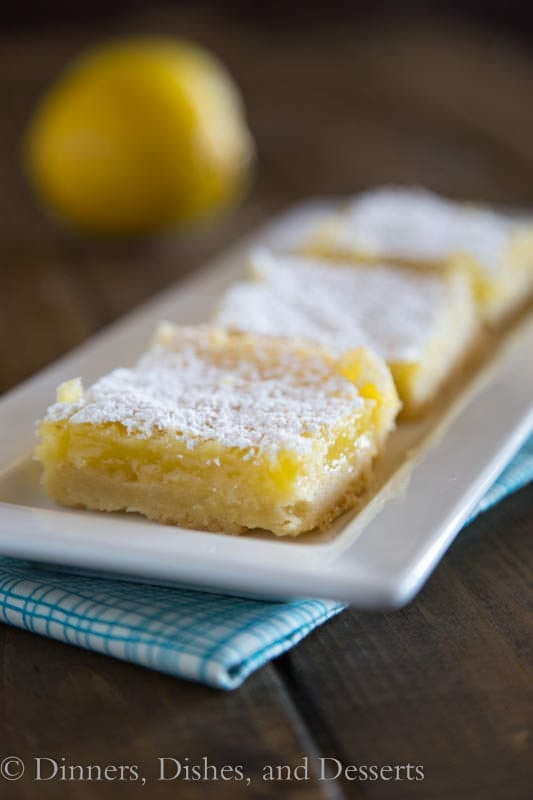 Creamy Lemon Bars with a Shortbread Crust | Dinners, Dishes, and Desserts