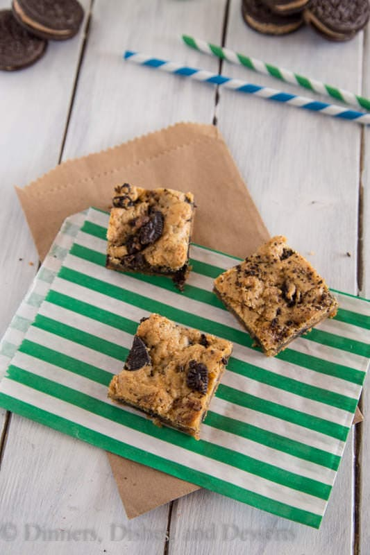 Oreo Cookie Dough Blondies