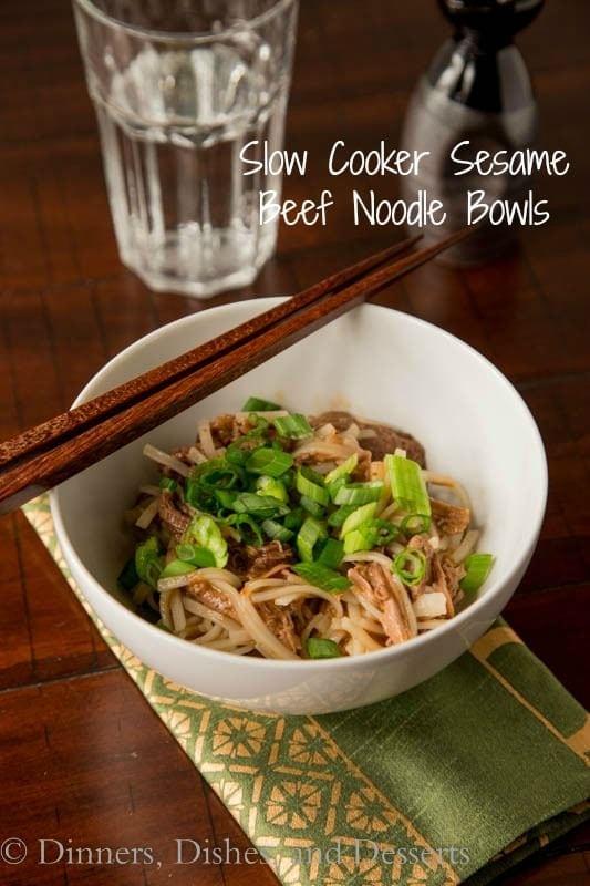 sesame beef noodle bowls