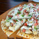 Bacon, Ranch, Chicken Pizza