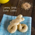 Lemony Greek Easter Cookies
