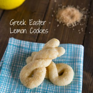 Greek Easter Lemon Cookies