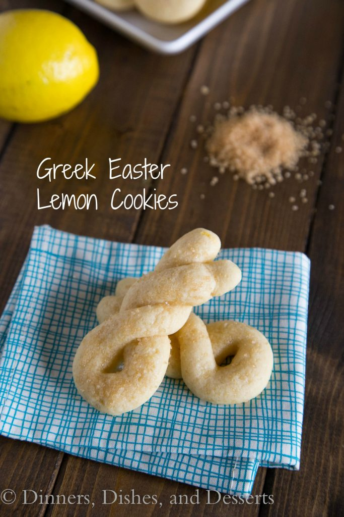 Greek Easter Lemon Cookies