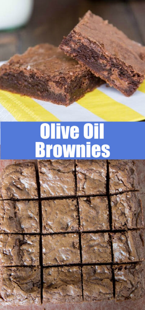 close up of olive oil brownies