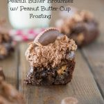 Peanut Butter Brownies w/ Peanut Butter Cup Frosting