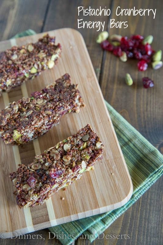 Pistachio Cranberry Energy Bars   Dinners, Dishes, and Desserts