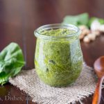 Fresh Spinach Pesto from Dinners, Dishes, & Desserts