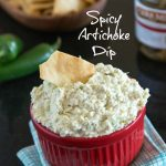 Artichoke Jalapeno Dip - homemade version of a store bought favorite {Dinners, Dishes & Desserts}