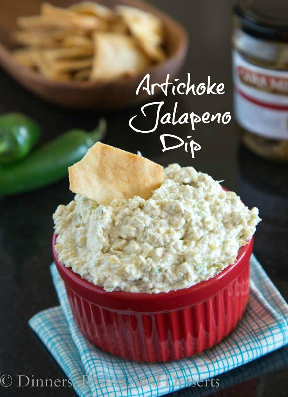 Artichoke Jalapeno Dip - a homemade version of a store bought favorite {Dinners, Dishes & Desserts}