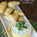 Brazilian Chicken Turnovers with a Cool Avocado Yogurt Dipping Sauce {Dinners, Dishes, and Desserts}
