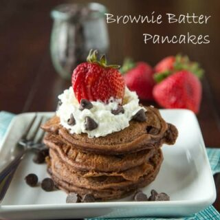 Brownie Batter Pancakes | Dinners, Dishes & Desserts