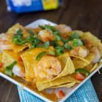Cheesy Shrimp Nachos {Dinners, Dishes, Desserts}