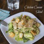 Chicken Caesar Salad - lightened up by using yogurt in the dressing