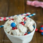 Red, White & Blue Cake Batter Muddy Buddies