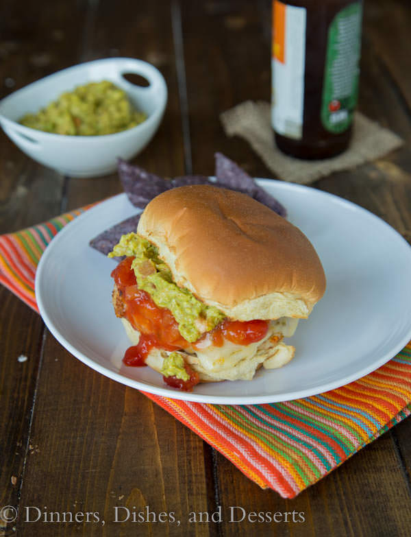 Chicken Taco Burgers - 2 dinner favorites (burgers and tacos) cominbed into one!
