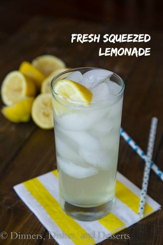 Fresh Squeezed Lemonade - perfectly refreshing for a hot summer day!