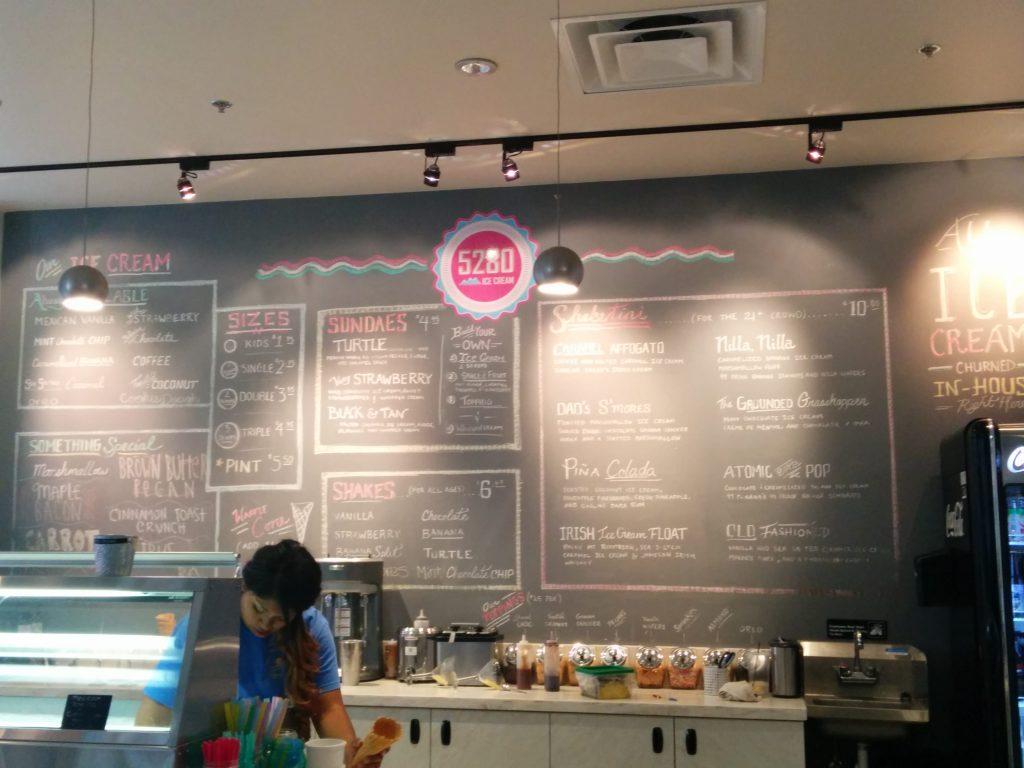 menu from 5280 burger bar