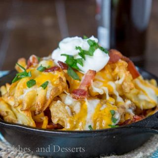 Idaho Nachos - loaded with lots of bacon and cheese