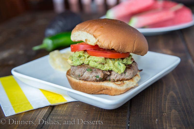 Jalapeno Turkey Burgers {Dinners, Dishes, and Desserts}