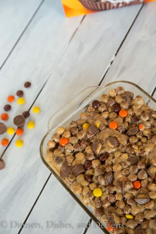No Bake Peanut Butter Puffs Bars - Peanut Butter lover's dream come true!