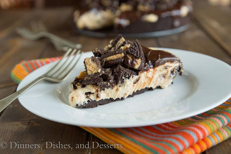 No Bake Peanut Butter Cheesecake {Dinners, Dishes, and Desserts}