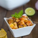 Peach Salsa - fresh peaches bring so much flavor to this salsa.