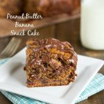 Whole Wheat Peanut Butter Banana Snack Cake - a cake you can feel good about!