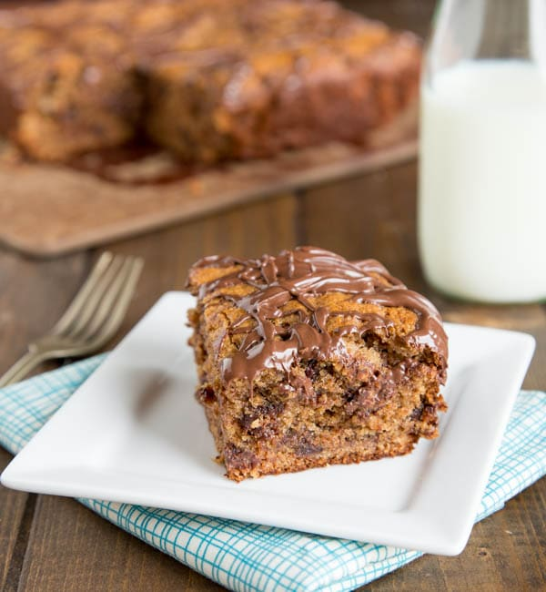 Whole Wheat Banana Snack Cake