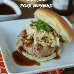 Char Siu Pork Burgers