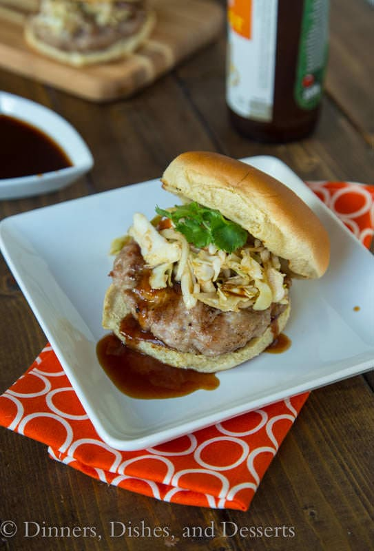 Char Siu Pork Burgers - Classic Asian favorite switched up into a burger