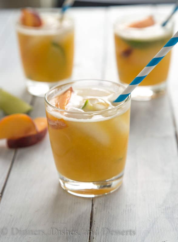 Bourbon Peach Limeade - a great use for those fresh peaches