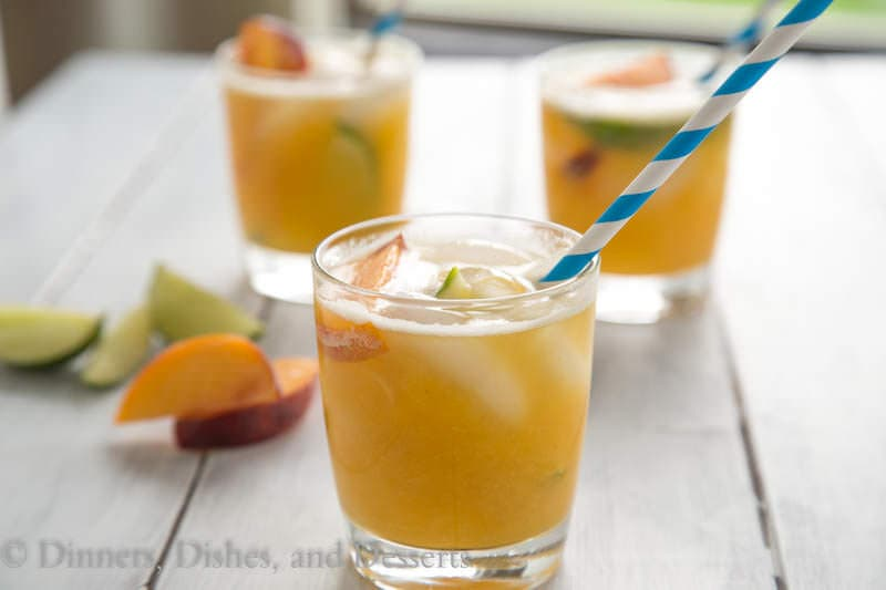 Bourbon Peach Limeade {Dinners, Dishes, and Desserts}