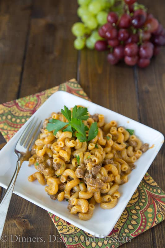 Cheeseburger Macaroni Skillet - quick and easy dinner for those busy weeknights