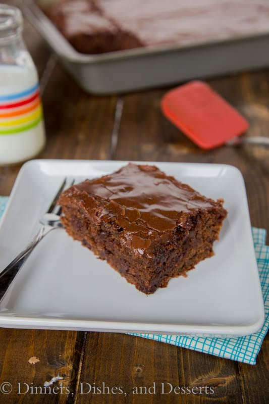 Zucchini Chocolate Cake {Dinners, Dishes, and Desserts}