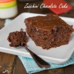 Zucchini Chocolate Cake - rich and chocolate cake that uses up lots of zucchini
