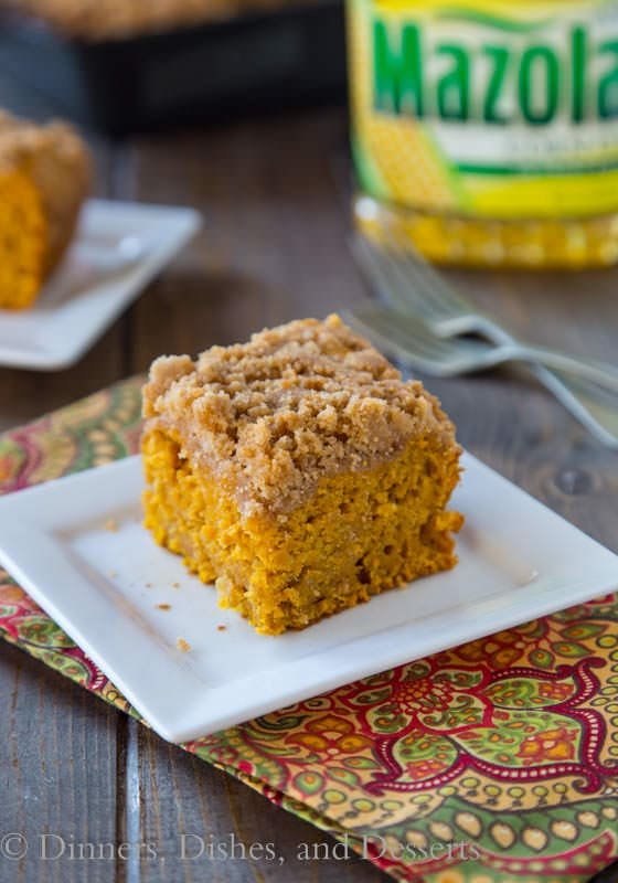 Apple Pumpkin Coffee Cake - Breakfast just got a whole lots tastier