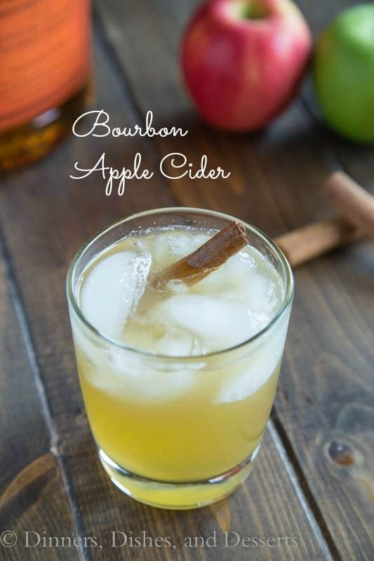 Bourbon Apple Cider - turn fresh apple cider into the perfect fall cocktail