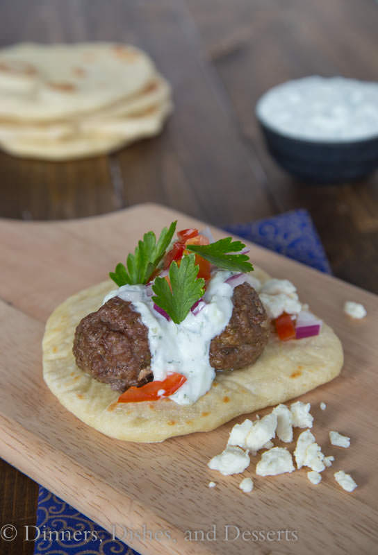 Greek Meatball Sandwiches - quick, easy, and tons of flavor