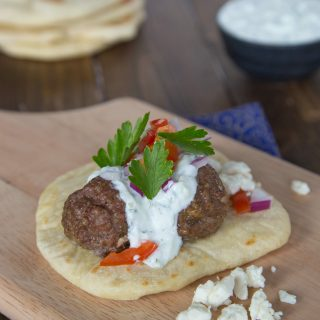 Greek Meatball Sandwiches