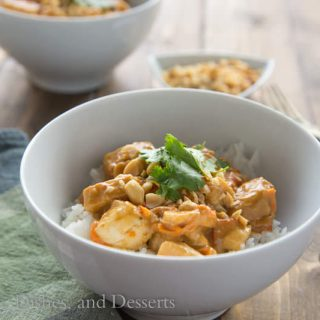 Peanut Chicken with Rice {Dinners, Dishes, and Desserts}