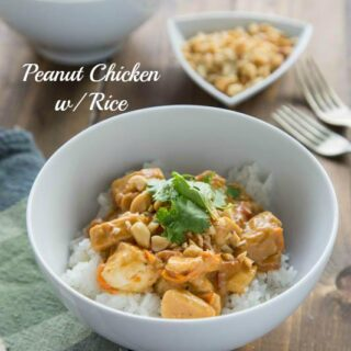 Peanut Chicken with Rice