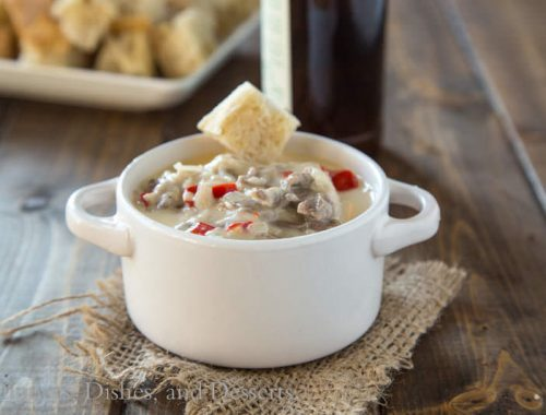 Philly Cheesesteak Dip {Dinners, Dishes, and Desserts}