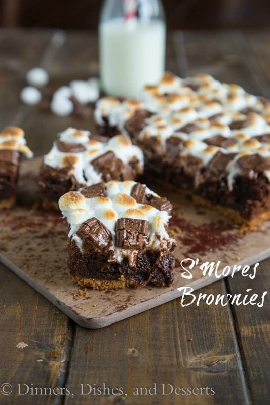 mores Brownies – Rich, fudgy brownies on a graham cracker crust ...