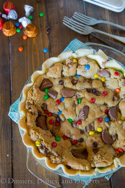 Candy Bar Pie - turn all of that leftover candy into a fun pie!