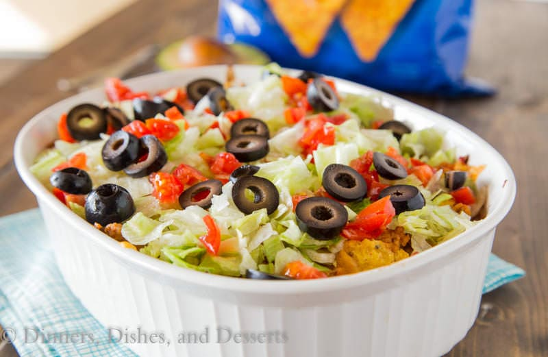 Dorito Taco Casserole {Dinners, Dishes, and Desserts}