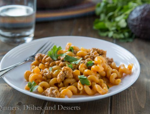 Enchilada Pasta Skillet {Dinners, Dishes, and Desserts}