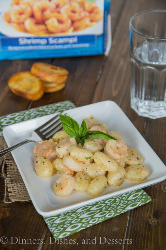 Gnocchi Shrimp Scampi - dinner is ready in 15 minutes!