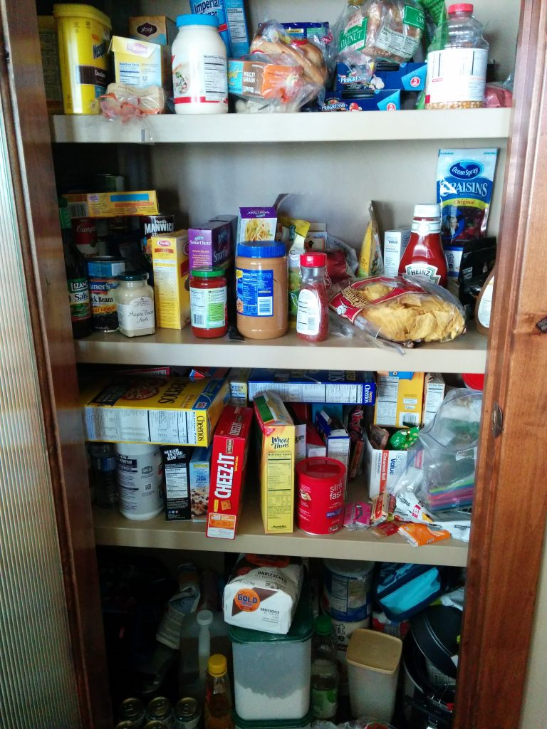 Pantry before Organization