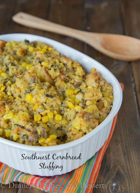 Southwest Cornbread Stuffing - mix up your holidays this year with a Southwest twist